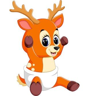かわいい鹿の漫画のイラスト