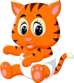 かわいい赤ちゃんの虎のイラスト