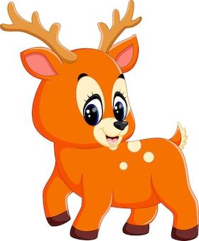 かわいい鹿はミルクボトルを保持
