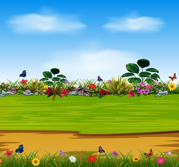 美しい庭の花
