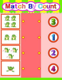 カエルと動物のマッチカウント