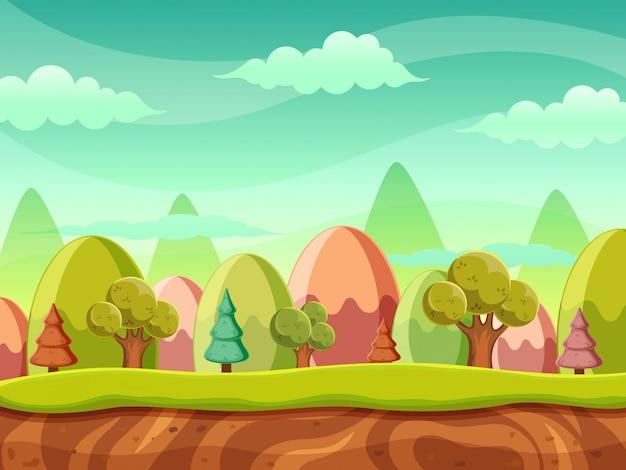 ファンタジーの森の自然の風景