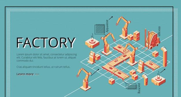 工場用コンベアベルトの着陸ページ。