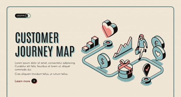 Баннер с картой путешествия клиента