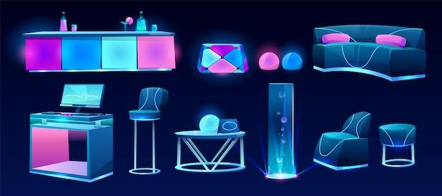 ナイトクラブやバーの家具、インテリアデザイン