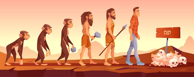 人種の絶滅、進化のタイムライン