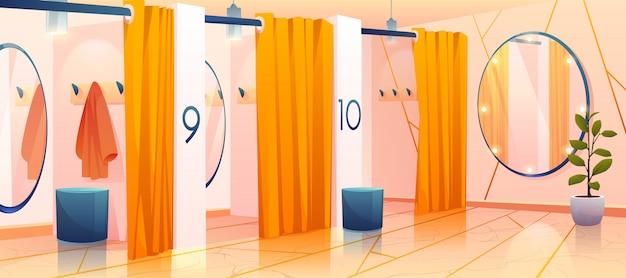 店内の試着室