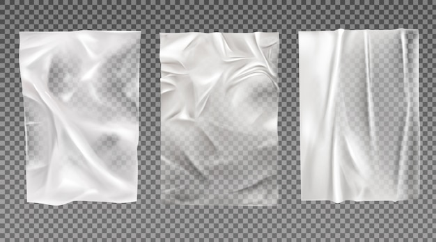 Набор белой мокрой бумаги