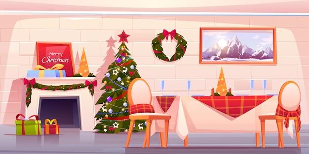 幸せな家族のクリスマスディナー、休日を祝う