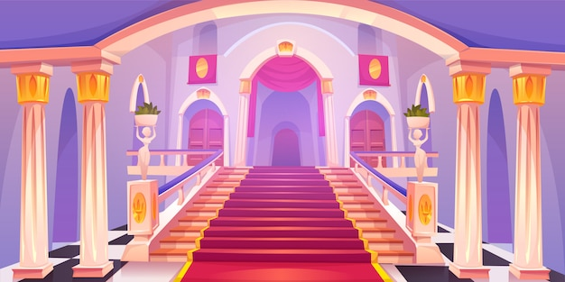 城の階段の図