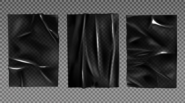 ラッピング用の黒いプラスチック延伸フィルム