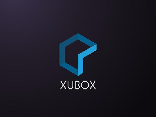 Геометрический элемент с шестиугольным шаблоном логотипа объекта