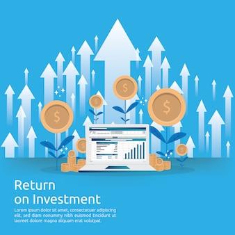 Стрелки роста бизнеса к успеху увеличивают прибыль.