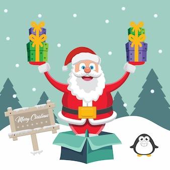 Санта-клаус с подарками