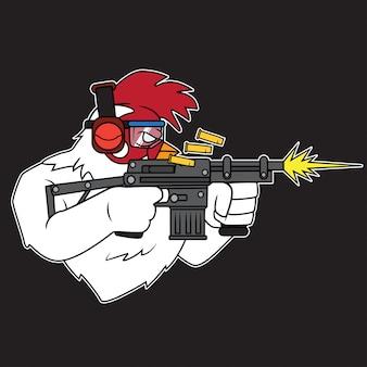 Логотип стрельбы из курицы