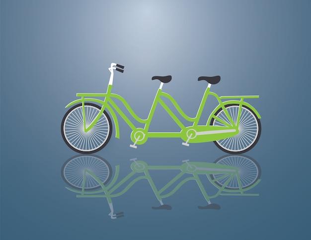 緑自転車家族のために