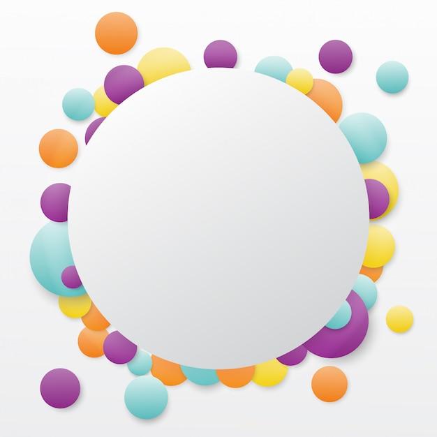 ラウンドランダムな色のバブルの背景