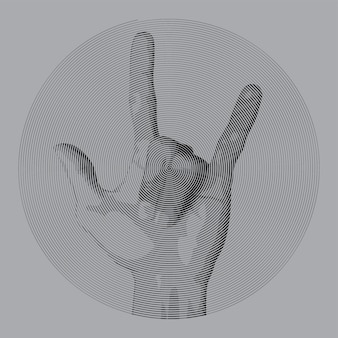 Спиральный стиль рисования металлический палец