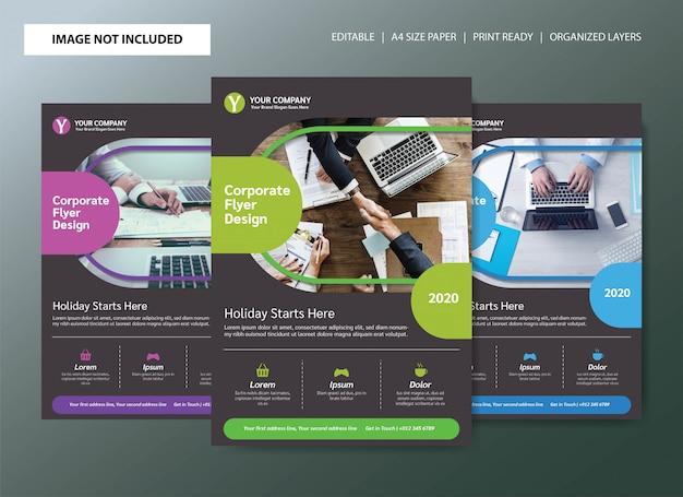 Корпоративный бизнес флаер плакат дизайн шаблона