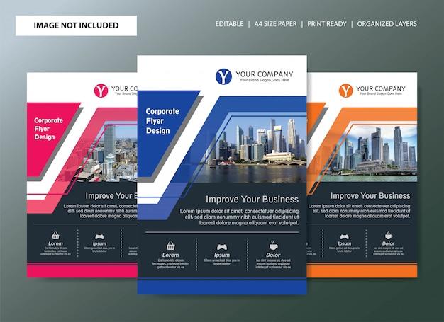 Корпоративный дизайн флаера с возможностью выбора цвета