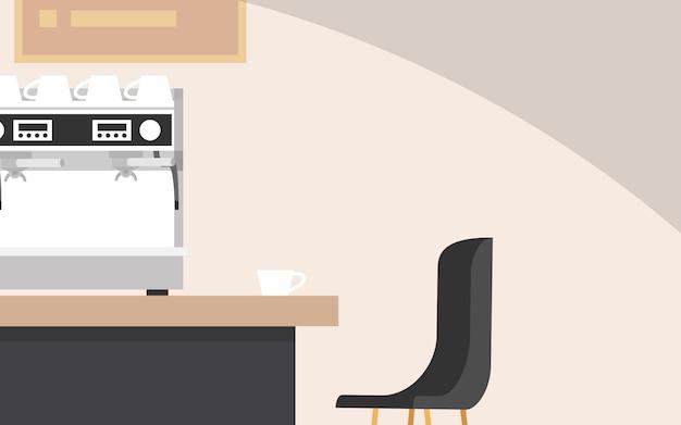 テキストのためのコピースペースとインテリアコーヒーカフェショップ