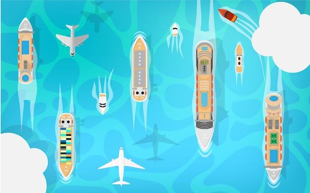 Многие морские транспортные средства