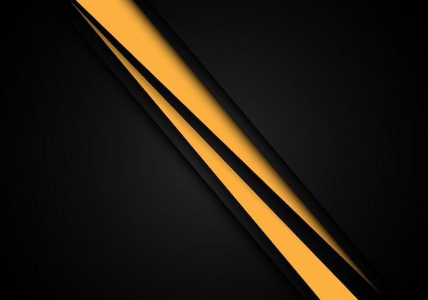 Желтая линия слеш скорость перекрытия на черном фоне.