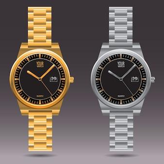時計の金と銀のコレクション