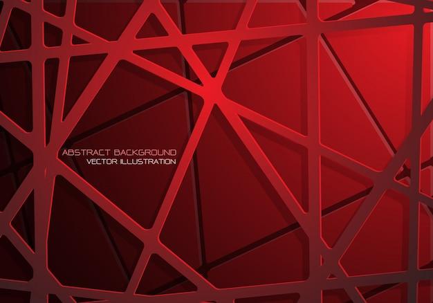 赤いメッシュラインクロスパターン重複影の背景。