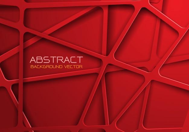 赤いトーンメッシュラインクロスパターンオーバーラップの背景。