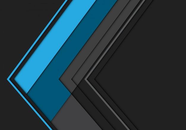 Синяя серая стрелка многоугольника направление футуристический фон.