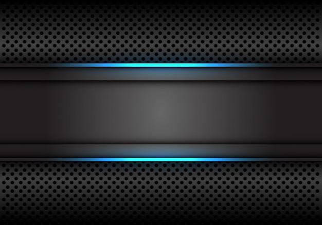 青い光線の濃い灰色の背景