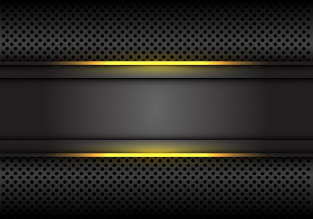 黄色い光線の濃い灰色の背景