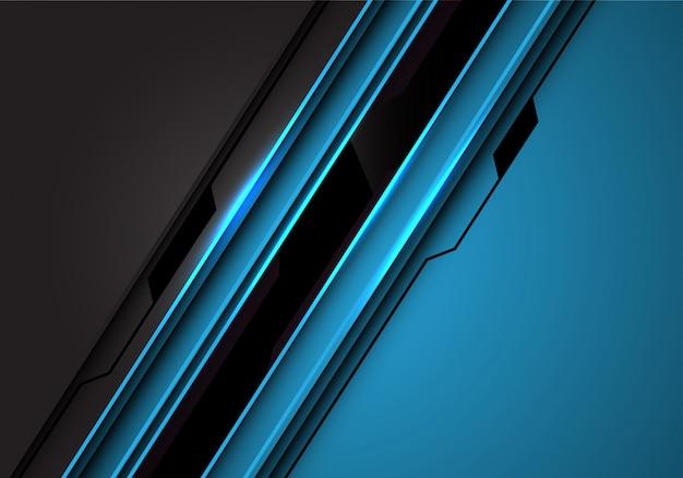 黒い線回路ブルーグレー金属未来的な背景。