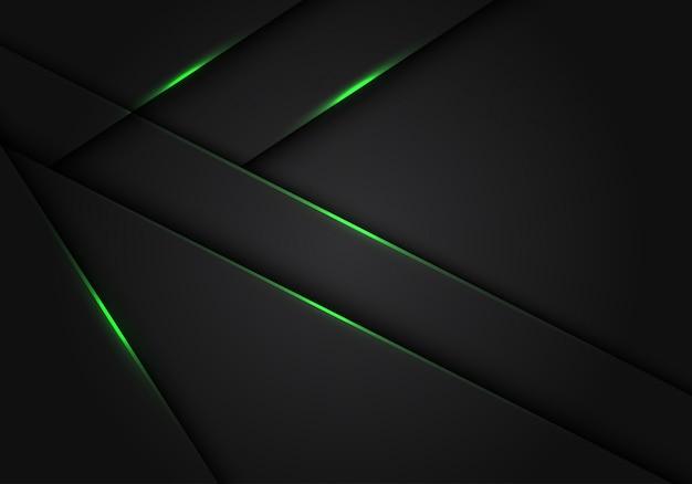 Зеленый свет темно-серый металлик перекрытия футуристический фон.