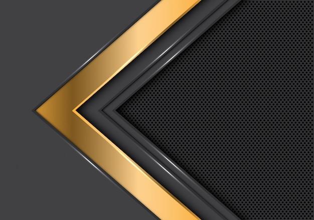 ゴールドグレーの矢印方向サークルメッシュの豪華な背景。