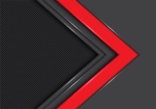 赤灰色の矢印方向サークルメッシュの背景。