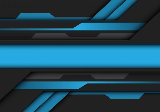 ブルーグレーのメタリックバナー回路未来的な背景。
