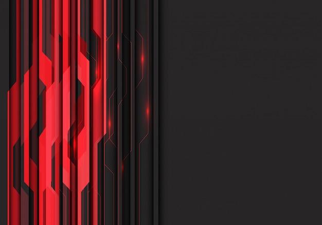 暗い灰色の空白スペースの背景を持つ赤い回路光。