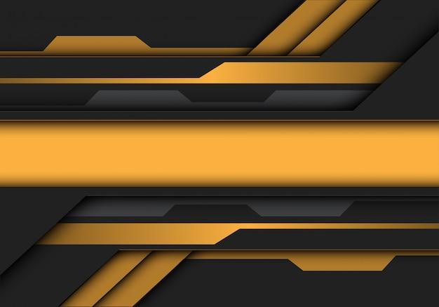 黄色灰色メタリックバナー回路未来的な背景。