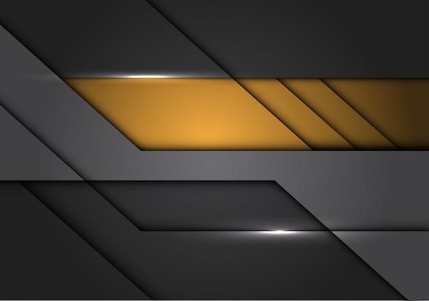 黄色灰色の金属回路現代未来的な背景。