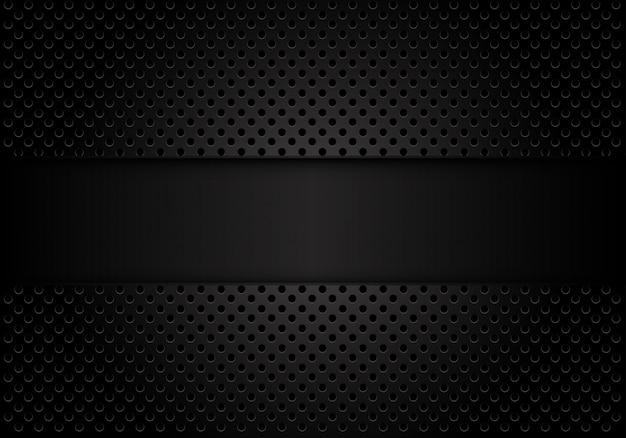 サークルメッシュと暗い灰色の背景