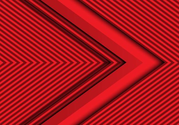 Абстрактная красная стрелка современный футуристический фон.