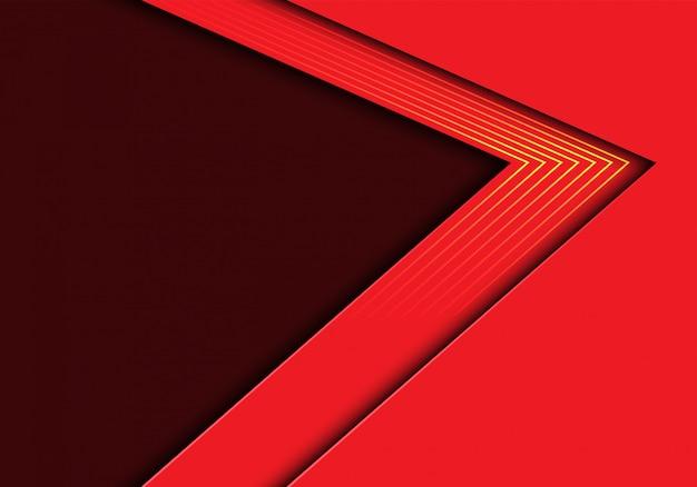 Красная стрелка желтые линии свет с фоном пустого пространства.