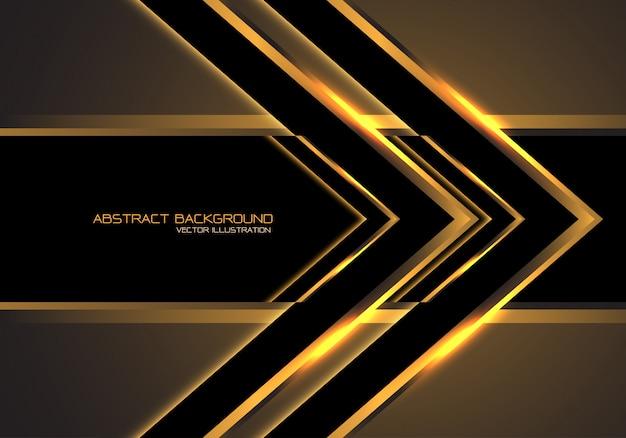 Золотая стрелка скорость направление, черный фон роскоши.
