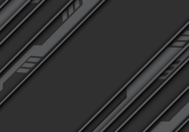 Серый тон цепи, современный футуристический фон технологии.