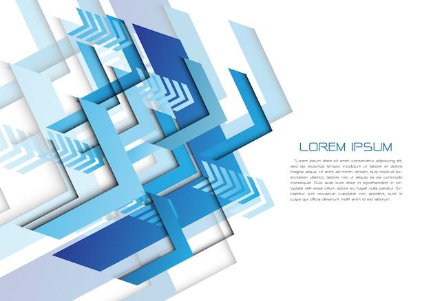 Синяя стрелка направления геометрическая на белом с черным текстом