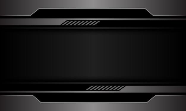Предпосылка технологии серого металлического черного круга пустого пространства футуристическая.