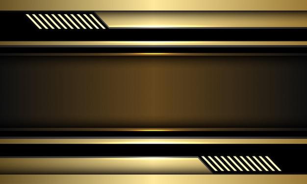 Золотой баннер черный контур футуристический фон технологии.