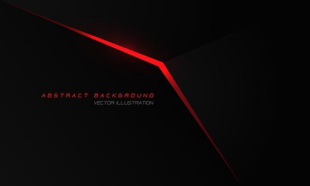 空白のデザインモダンで豪華な未来技術の背景を持つ黒い金属の抽象的な赤い光の矢印。